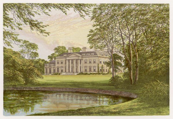 HENRY JOHN TEMPLE THIRD VISCOUNT PALMERSTON English MP's home at Broadlands, Hampshire