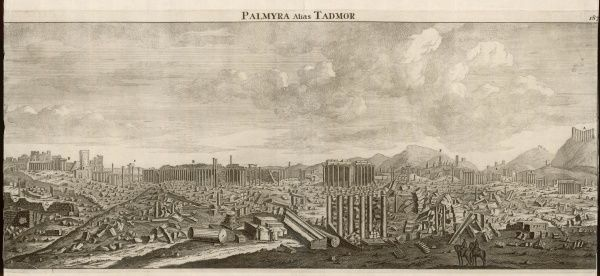 The ruins of the ancient city of Tadmor, or Palmyra, said to have been built by Solomon