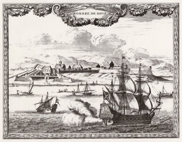 A view of the coast of Panama at the time of the Scottish Darien expedition