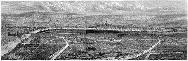The Illustrated London News panorama of London for 1861