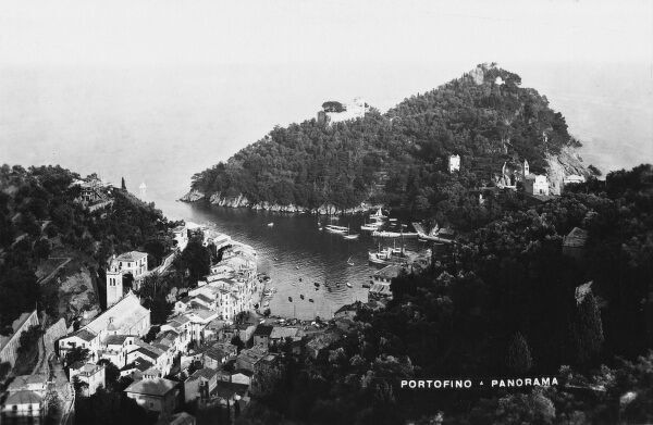 Panoramic View of Portofino in the 1930s