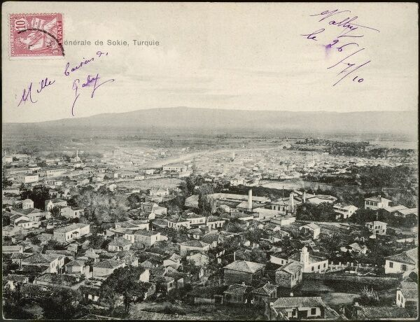 The only known postcard of Soke, Turkey in the Aydin Province