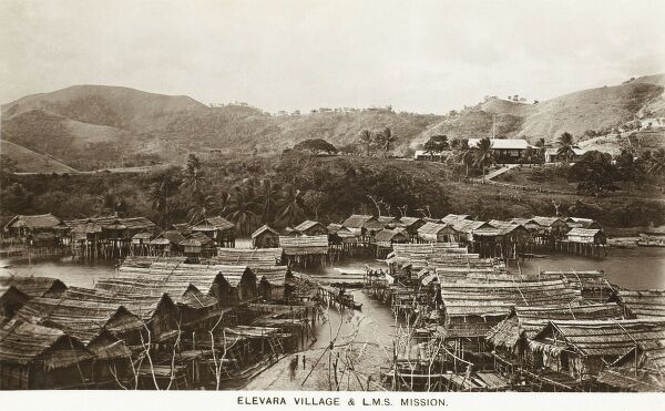 Papua New Guinea - Elevara Village and the L.M.S. Mission. The London Missionary Society was a non-denominational missionary society formed in England in 1795 by evangelical Anglicans and Nonconformists, largely Congregationalist in outlook