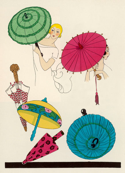 A selection of parasols