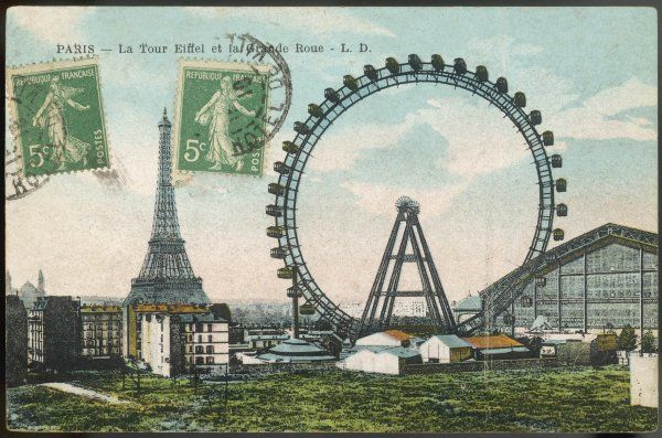 'LA GRANDE ROUE' ('The Big Wheel') with the Tour Eiffel in the distance