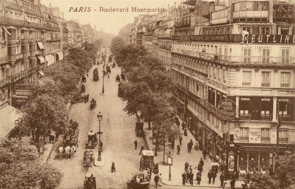 Boulevard Montmartre: viewed from above