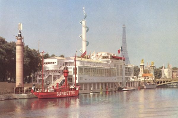 Exposition Internationale - Pavilion of the Marine Marchande (Merchant Navy) Date: 1937