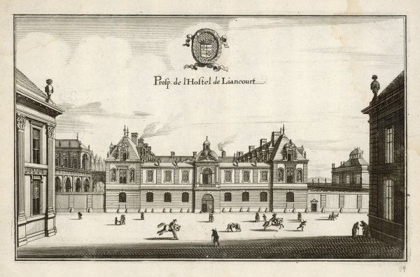 Originally the Hotel Dauphin, rebuilt by Roger Du Plessis, sieur de Liancourt, circa 1620s ; demolished 1825 and the rue des Beaux Arts (6e) now runs on the site