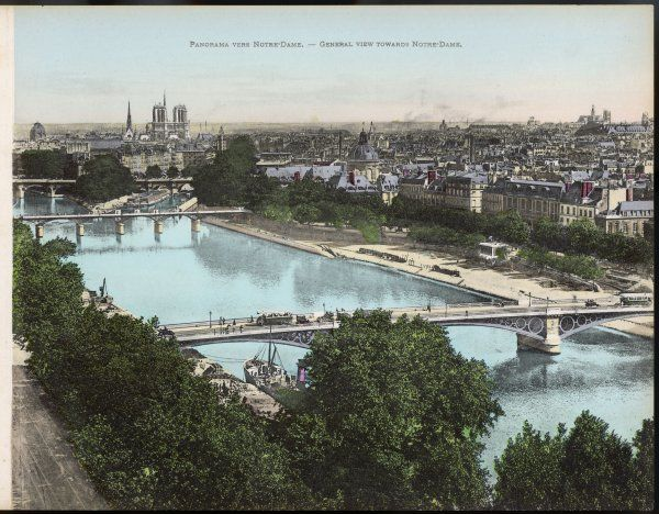 the Seine: general view towards Notre Dame