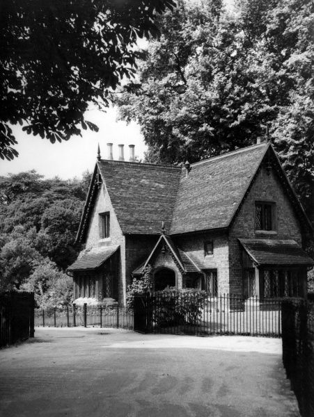 A picturesque park keeper's lodge in Hyde Park, London. Date: 19th century