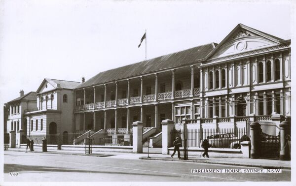 Parliament House - Sydney, New South Wales Date: circa 1910s