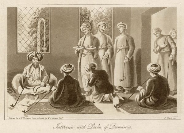 The Pasha of Damascus receives a delegation