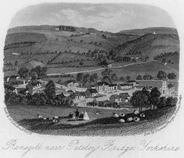 View of Ravensgill, Pateley Bridge, Yorkshire -- the birthplace of Eugene Aram Date: circa 1860