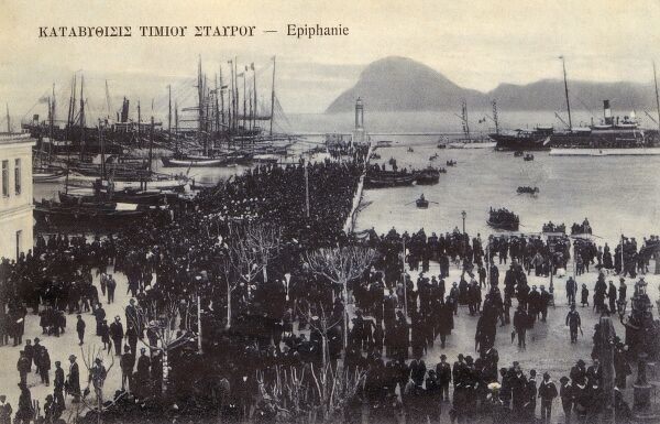 The celebration of Epiphany in the Bay at Patras, the regional capital of West Greece, located in northern Peloponnese
