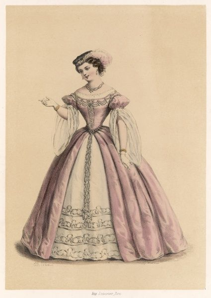 PAULINE GUEYMARD-LAUTERS singer as Laura Salviati in 'Pierre de Medicis&#39