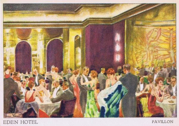 A sketch of the Pavillon- Restaurant at the Eden Hotel, Berlin Date: 1920s