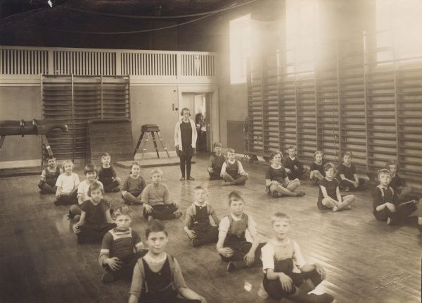 Physical education in school, 1927 Date: 1927