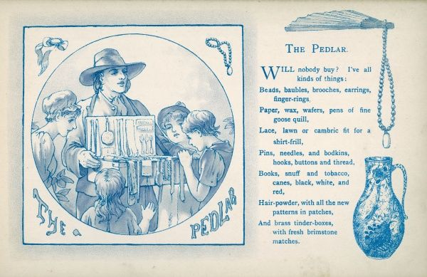 The Pedlar: People gather round to see what he has for sale