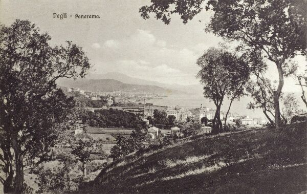 Pegli, Italy - panoramic view over the city Date: circa 1910s