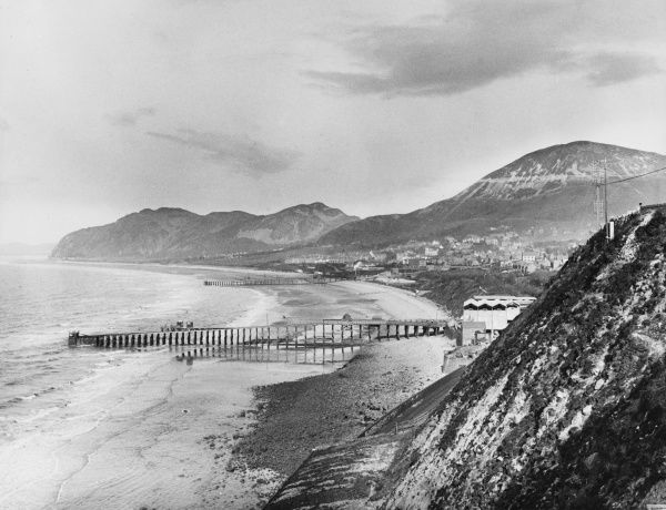 A lovely view of Penmaenmawr pier and the North Wales coastline, Caernarvonshire