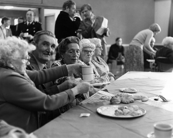 A pensioner's tea party Date: 1970s