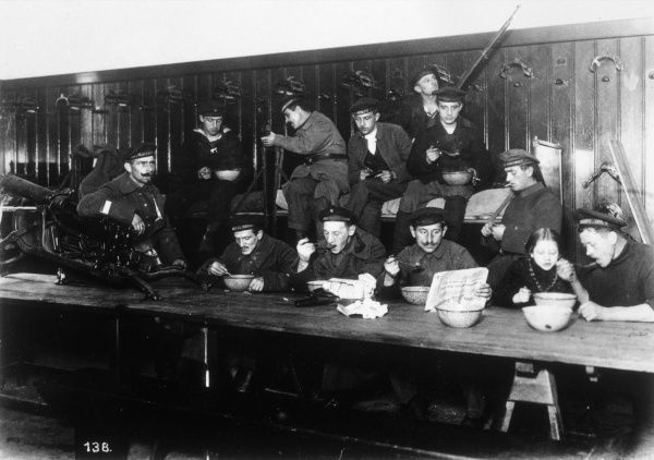 Men of the Peoples' Naval Division in the Marstall Building, Berlin, during the German Revolution