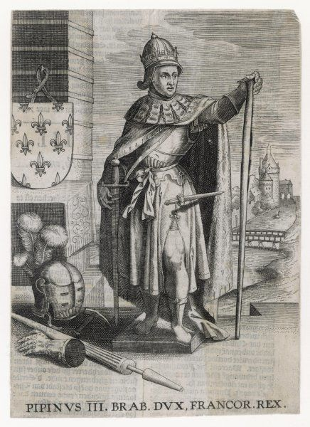 PEPIN LE BREF Duke of Brabant, King of the Franks from 752 father of Charlemagne, husband of Berthe