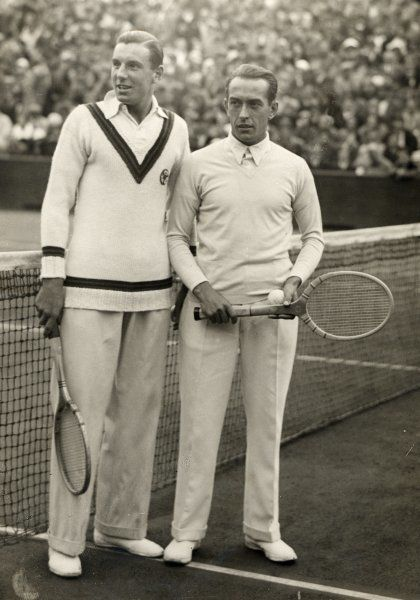 Fred Perry and Cochet before their match