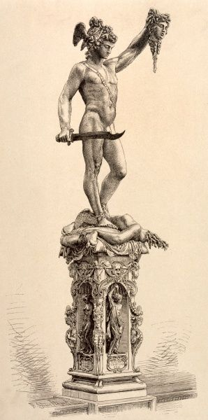 Perseus with the head of Medusa chief of the Gorgons