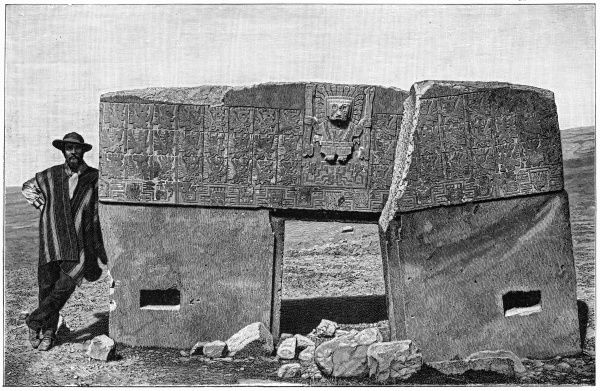 The monolithic gate of Ak-kapana, near Tiahuanaco