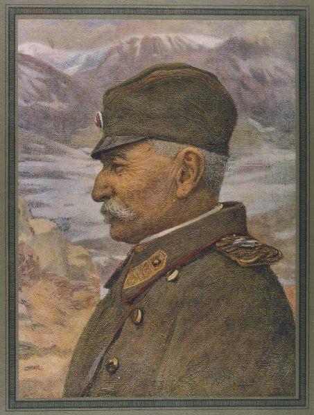 PETER I, KING OF SERBIA King of Serbia (1903-21) here during World War One