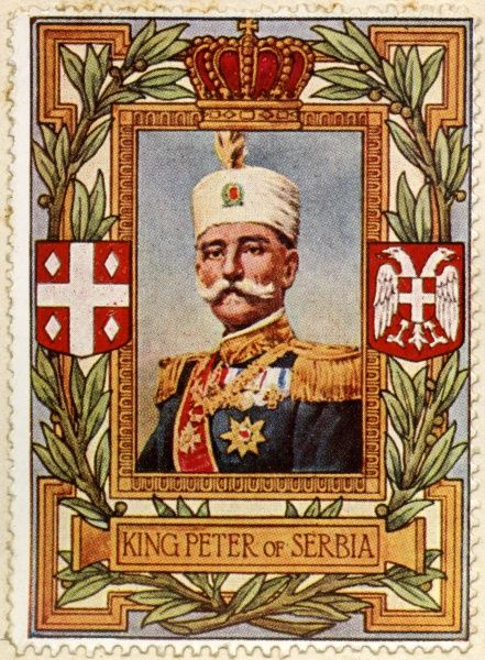 PETER I, KING OF SERBIA (1903 - 1921) and subsequently proclaimed King of the Serbs, Croats & Slovenes (1918 - 1921)