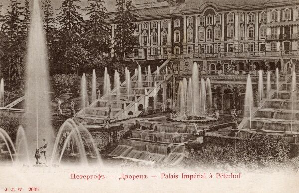 Peterhof - The Imperial Palace, Saint Petersburg, Russia Date: circa 1903