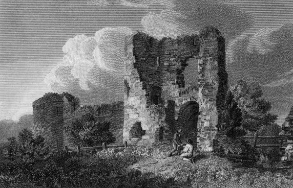 The ruins of Pevensey Castle, Sussex Date: 1812