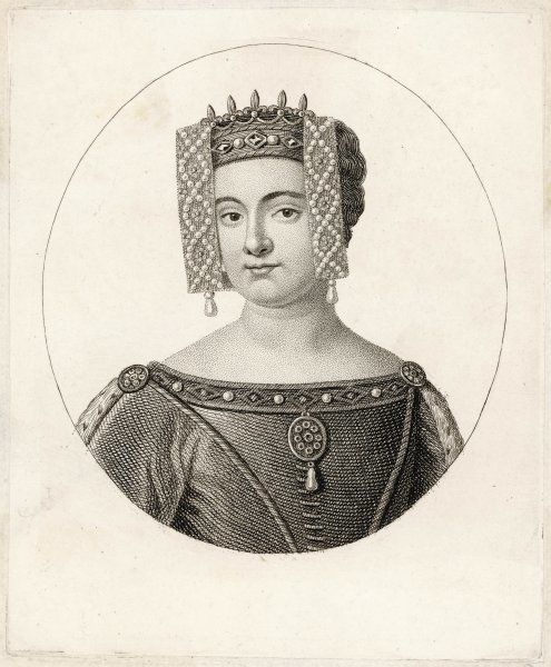 PHILIPPA OF HAINAULT Wife of Edward III, King of England, daughter of William, Count of Holland