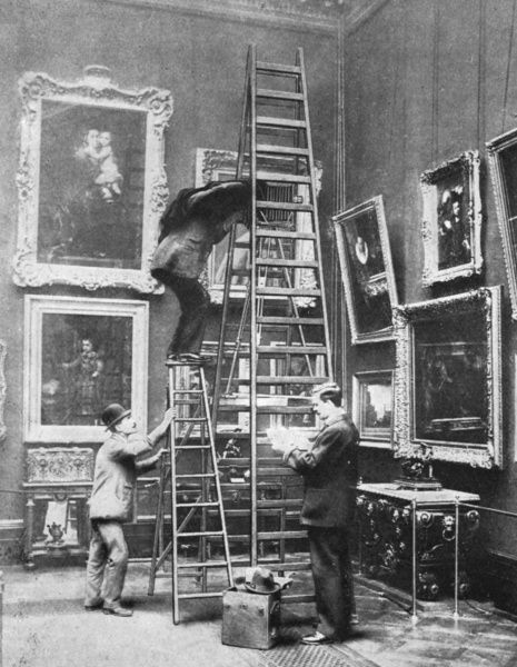 Photographing artworks in the Wallace Collection, London Date: 1908