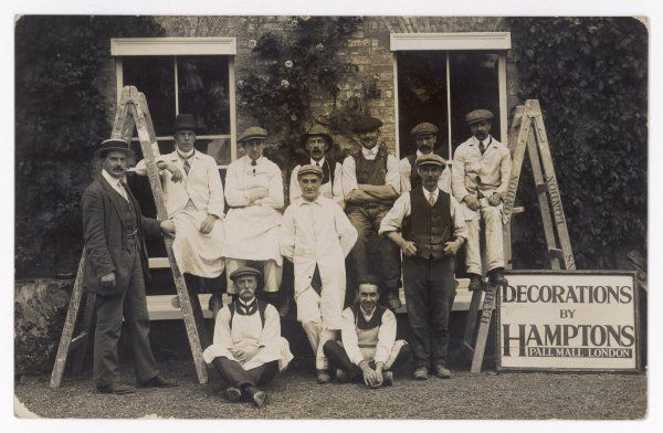 A group photograph of Hamptons Decorators of Pall Mall, London