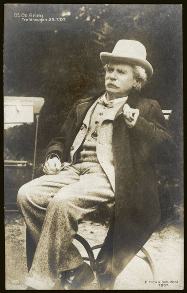 EDVARD HAGERUP GRIEG Norwegian composer, conductor, and violinist