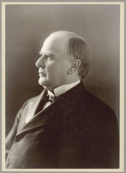 WILLIAM MCKINLEY Photographic portrait of William Mckinley, 25th President of the United States