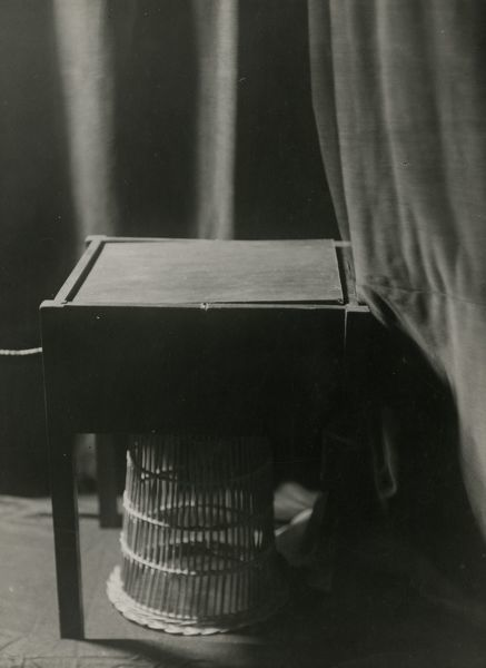 Photograph of electrical counter-poise table for taking automatic photographs, 8 March 1932. This is one of series of photographs documenting Harry Price's investigations into the mediumistic abilities of the brothers Rudi and Willi Schneider