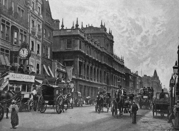 PICCADILLY looking eastwards, with Burlington House on the left Date: circa 1895