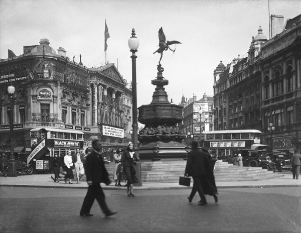 The Statue of Eros, Piccadilly Circus, London, England