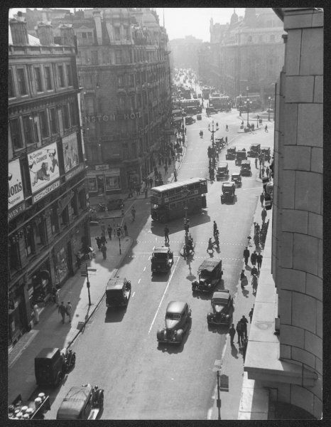 Piccadilly Circus as seen from Coventry Street