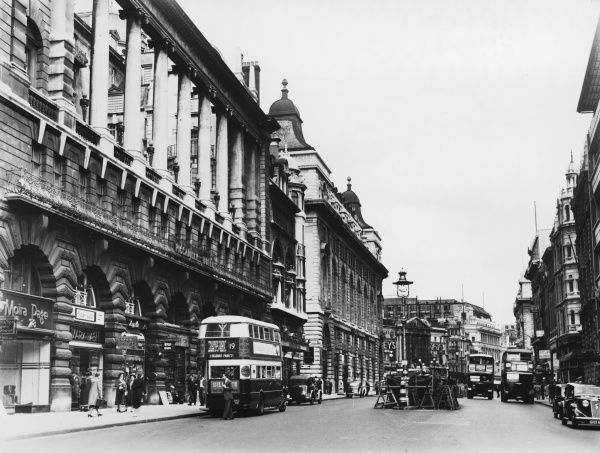Piccadilly, London, with the Piccadilly Hotel on the left, looking towards Piccadilly Circus