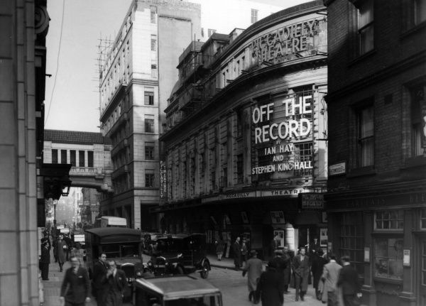 Piccadilly Theatre on Denman Street, Piccadilly, London, presenting Off the Record by Ian Hay and Stephen King Hall. Date: 1947