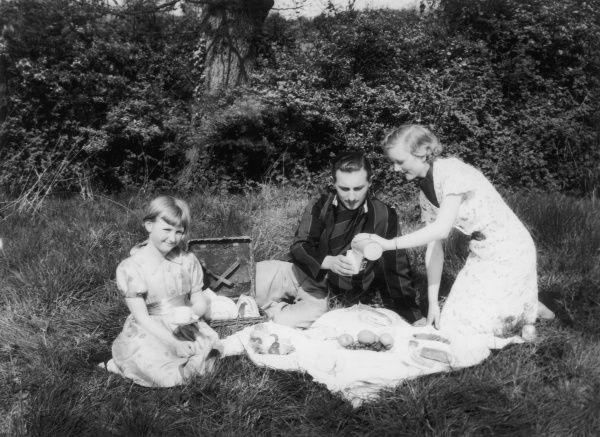 A nice family picnic in the country