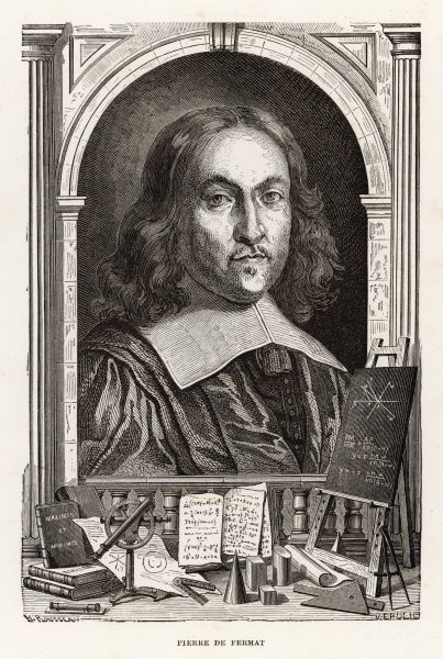 Pierre de Fermat, French lawyer and amateur mathematician. He is known for developments leading to modern calculus, and for research into the theory of numbers. He is best known for Fermat's Last Theorem