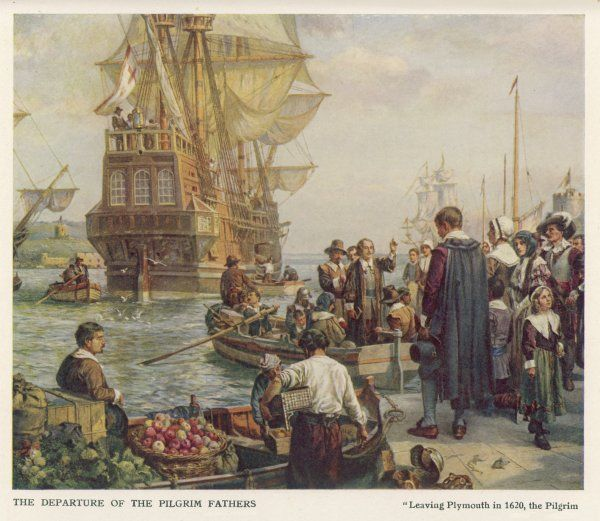 102 Protestants (24 of them women) leave Plymouth for America in the 'Mayflower'. Only 35 were Puritans. The phrase 'Pilgrim Fathers' was first used in 1799