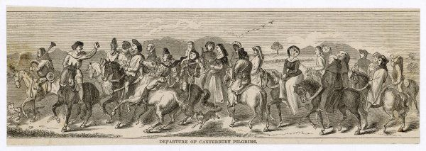 The Canterbury Pilgrims depart the Tabard Inn, Southwark and head away from London into Kent