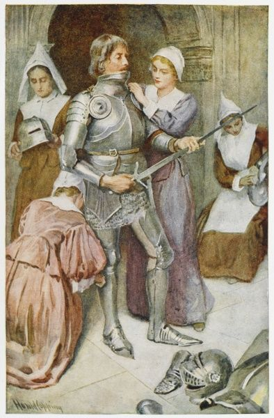 Christian is clothed in armour by Prudence and her companions